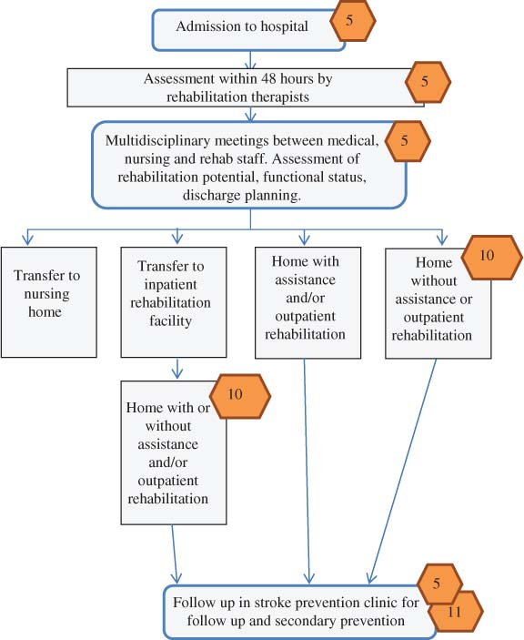 The process flow and structure of an integrated stroke strategy